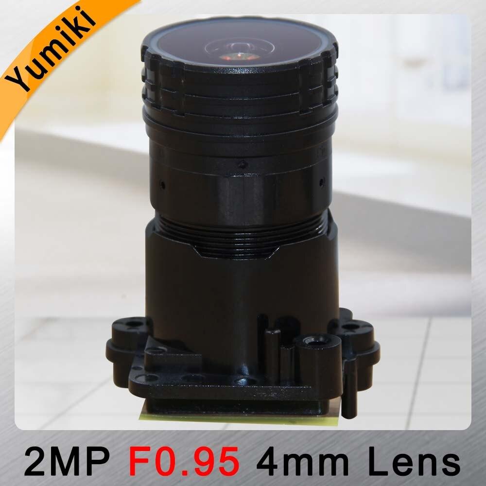 Yumiki F0.95 F1.0 4mm Focal LENs 2MP 1/2.7