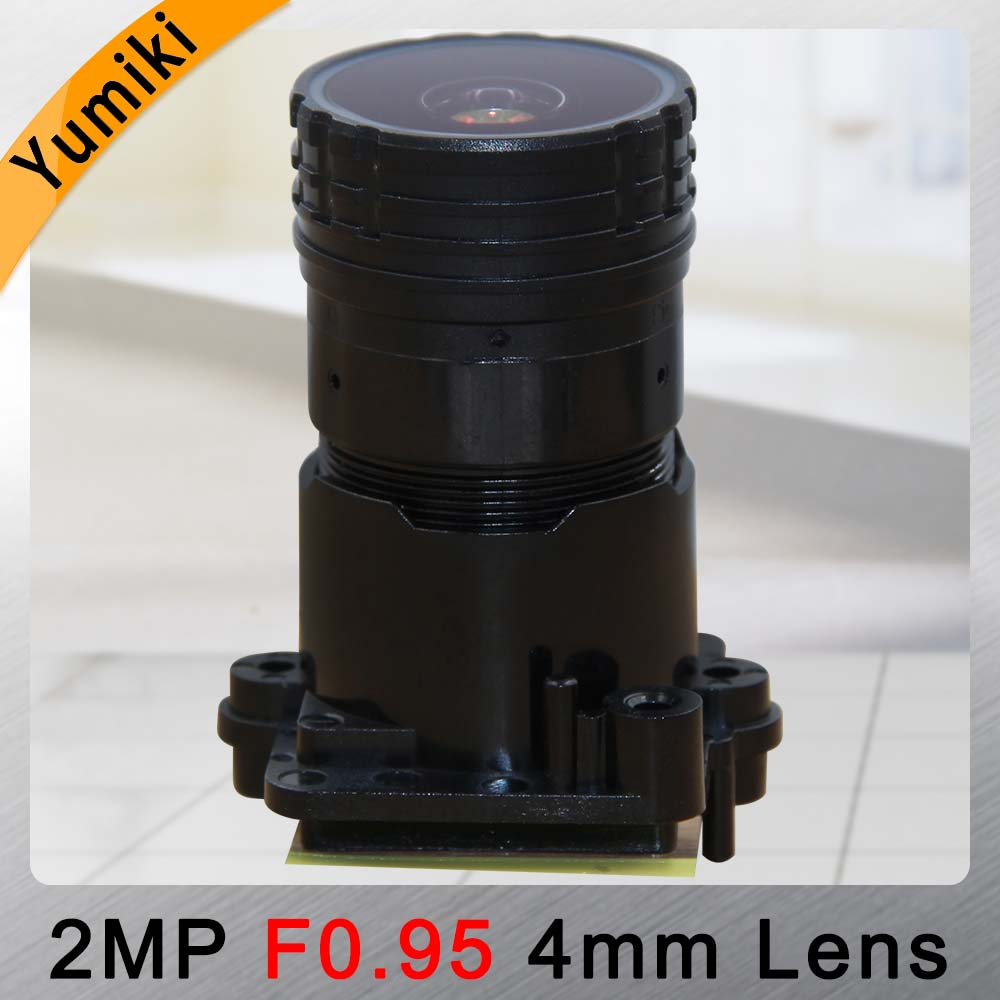 Yumiki F0.95 F1.0 4mm focal LENs 2MP 1/2.7 special for image sensor IMX327 , IMX307 , IMX290 , IMX291 camera PCB board module image