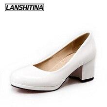 Туфли на высоком каблуке женские туфли-лодочки Демисезонный квадратный носок женские туфли-лодочки модный бренд Европейский Стиль обувь на каблуке Размеры 33-47 G828