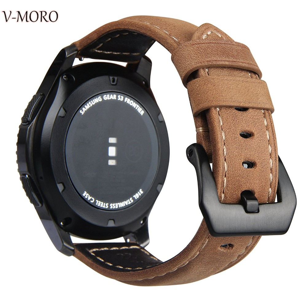V-moro Newest Fashion Durable Watch Bands For Samsung Gear S3 Classic Strap Band Genuine Leather For Gear S3 Classic Smart Watch genuine leather watch band strap for samsung galaxy gear s2 classic r732 black