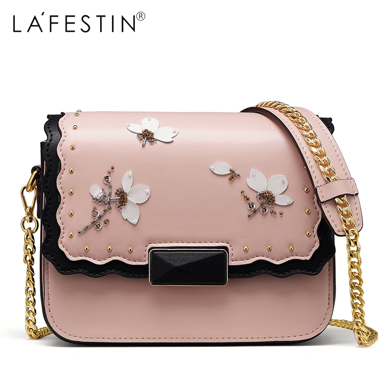 81bdba922aa8 ... LAFESTIN Brand Chain Shoulder Bag for Women Handbag Floral Female Metal  Chain Strap Crossbody Bags Women ...