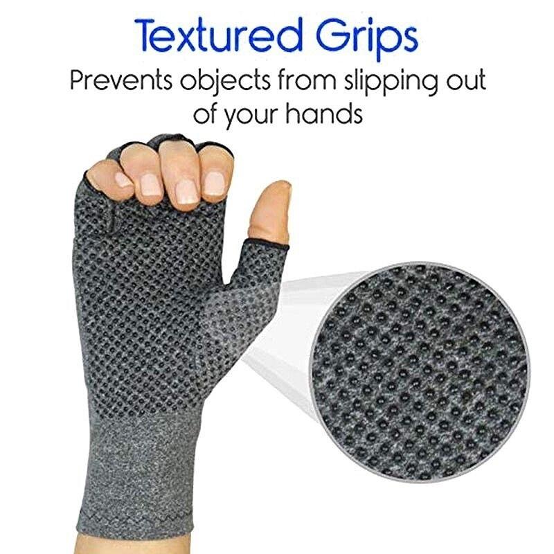 Перчатки для езды на велосипеде с половинными пальцами, защитные перчатки с артритом, эластичные дышащие перчатки для верховой езды