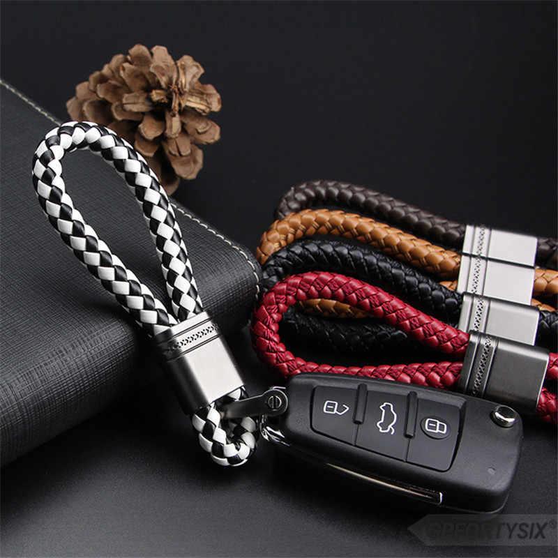 Кожаная ручная металлическая пряжка подковы автомобильный брелок для ключей Автомобильный брелок для ключей держатель для Audi BMW Benz Mazda Toyota KIA