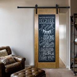(Frete grátis) Preto Rústico Clássico Do Vintage placa deslizante hardware porta do celeiro & porta Do Celeiro track system 5ft/6ft/6.6ft/8ft