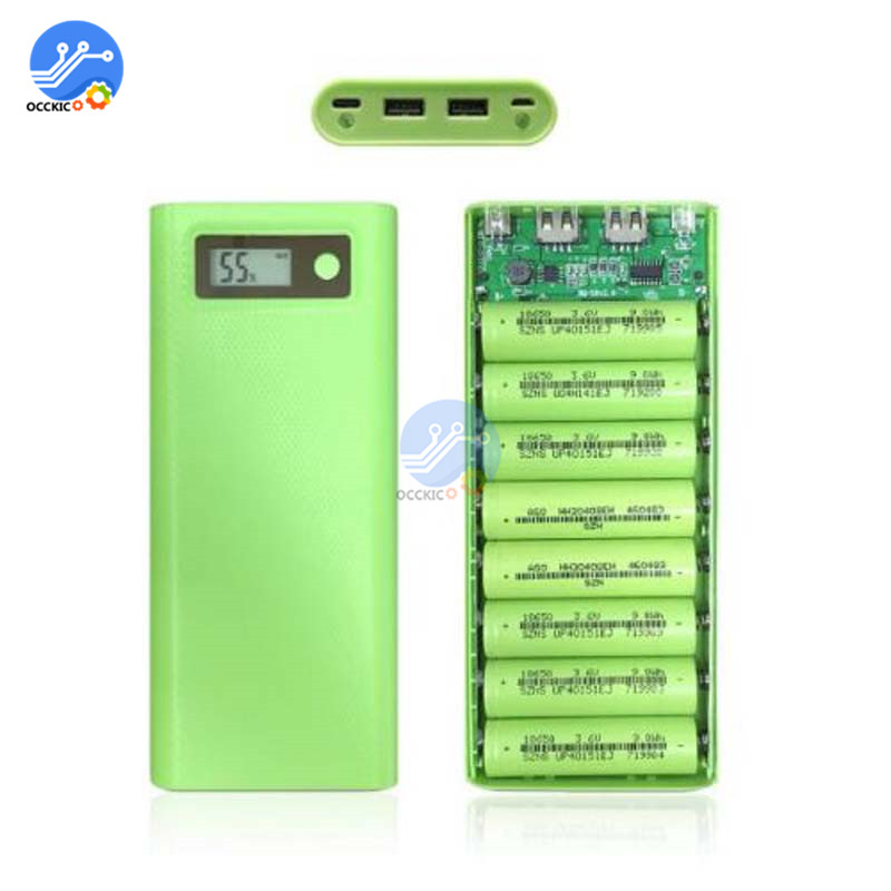 Image 4 - 8x18650 Battery Charger Box Power Bank Holder Case Dual USB LCD Digital Display 8*18650 Battery Shell Storage Organize DIY-in Battery Storage Boxes from Consumer Electronics