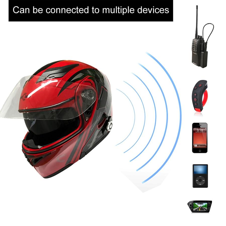 2017 Nowy Motocykl Bluetooth Kask Z Obrotem Motocykl Zbudowany w - Akcesoria motocyklowe i części - Zdjęcie 4