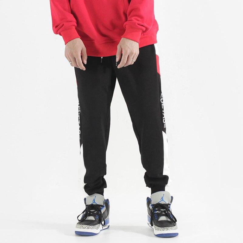 Fashion Streetwear Men Sweatpants Loose Fit Side Stripe Spliced Designer Casual Slack Bottom Joggers Men Hip Hop Pants(China)