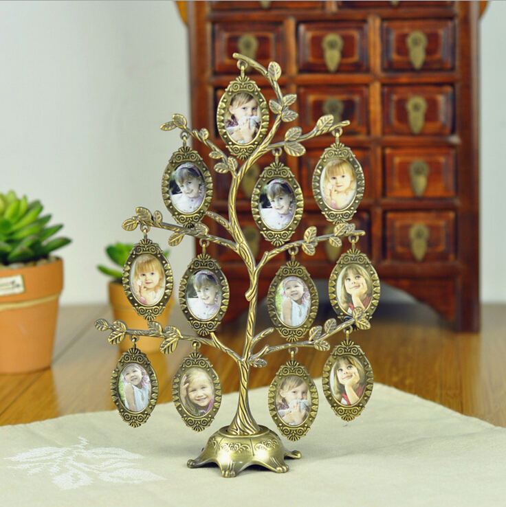 2016 hot sale happiness family tree metal photo frame for Cheap house decorations for sale