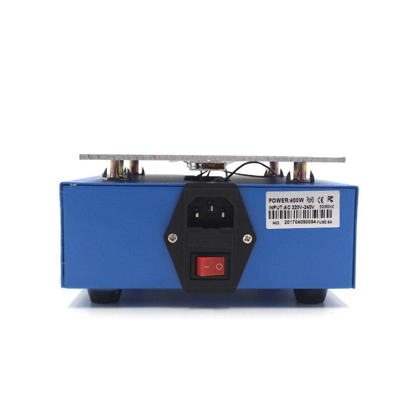 uyue 946 с станция подогрева 220 в 400 вт 140х200 мм жк-дисплей цифровой термостат платформа нагревательная пластина для телефона ремонт экрана сепаратор