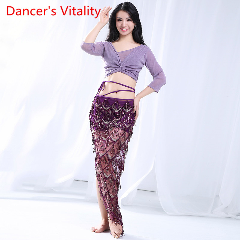 Belly Dance Costume Female Training Practice 2019 New Performance Costume Fishtail Skirt Sexy Oriental Dance Top