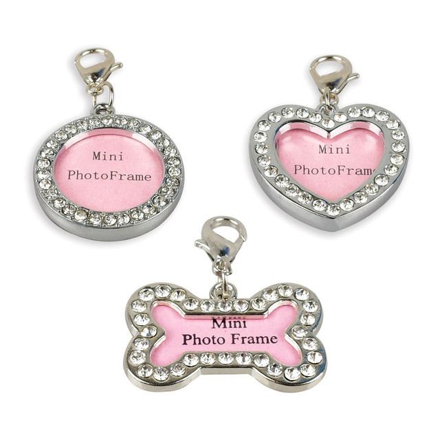 10pcs Pet ID Tags Dog Cat Name Information Card Personalized Photo ...