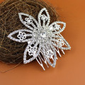 7 grass bride headdress rhinestone Floral Crystal Tiara Handmade Silver Plated Bride Party Hair Combs Hairwear Jewelry