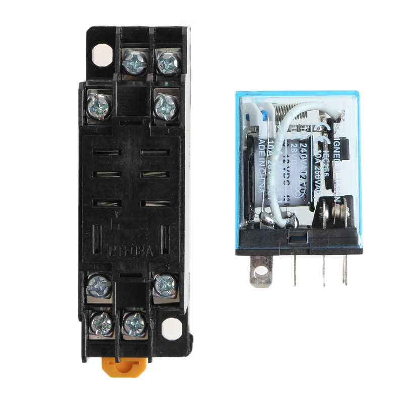 H● JQX-30F Plug-in Type Coil 30A 250V AC Power Relay DPDT 8 pins 12V DC