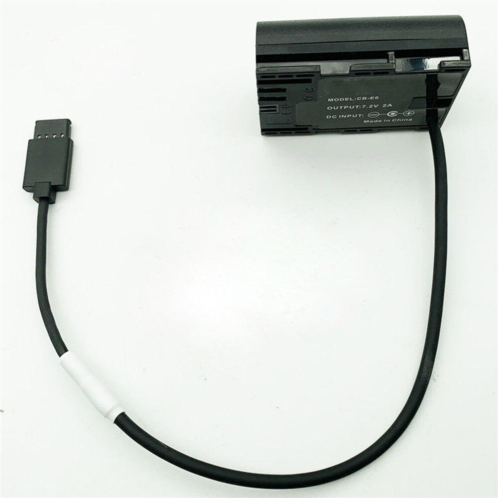 DJI Ronin S Gimbal, aby LP E6 DC łącznik Faux baterii konwerter kabel dla aparat Canon 5D2 5D3 5D4 akcesoria zasilające w Kable do dronów od Elektronika użytkowa na  Grupa 1