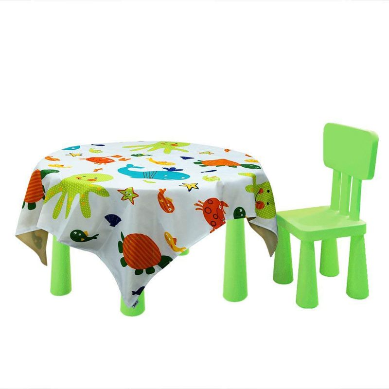 Baby Printed Washable Foldable Mat For Kids Toddler For Feeding Highchair Indoor Outdoor Use