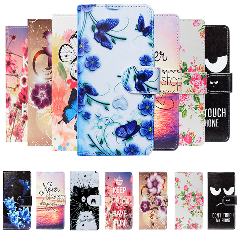 For Digma LINX Pay 4G Case Cartoon Butterfly Wallet Cellphone PU Leather Case For Digma LINX Pay Fashion Lovely Cover Bag Shell image