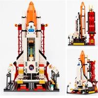 GUDI 8815 City Space Shuttle Launch Center Model Building Blocks Brick Compatible LegoIN Technic Playmobil Toys For Children