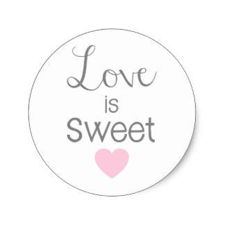 38m Love Is Sweet Pink Heart Handwritten Classic Round Sticker In Stickers From Home Garden On Aliexpress