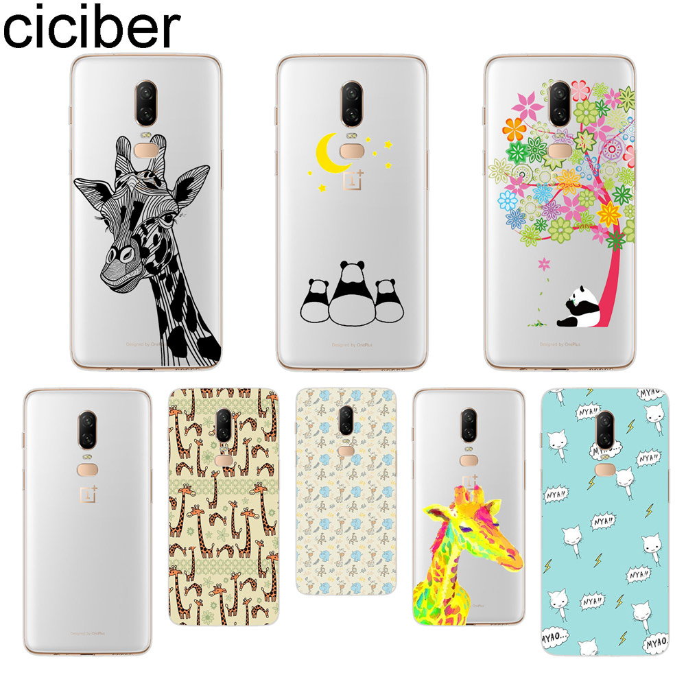 ciciber Giraffe Panda Phone Case For font b Oneplus b font font b 7 b font