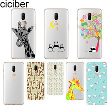 ciciber Giraffe Panda Phone Case For Oneplus 7 Pro 6 5 T Soft TPU Back Cover Clear Coque for 1+7 Pro 1+ 6 1+5 T Funda Shell Capa