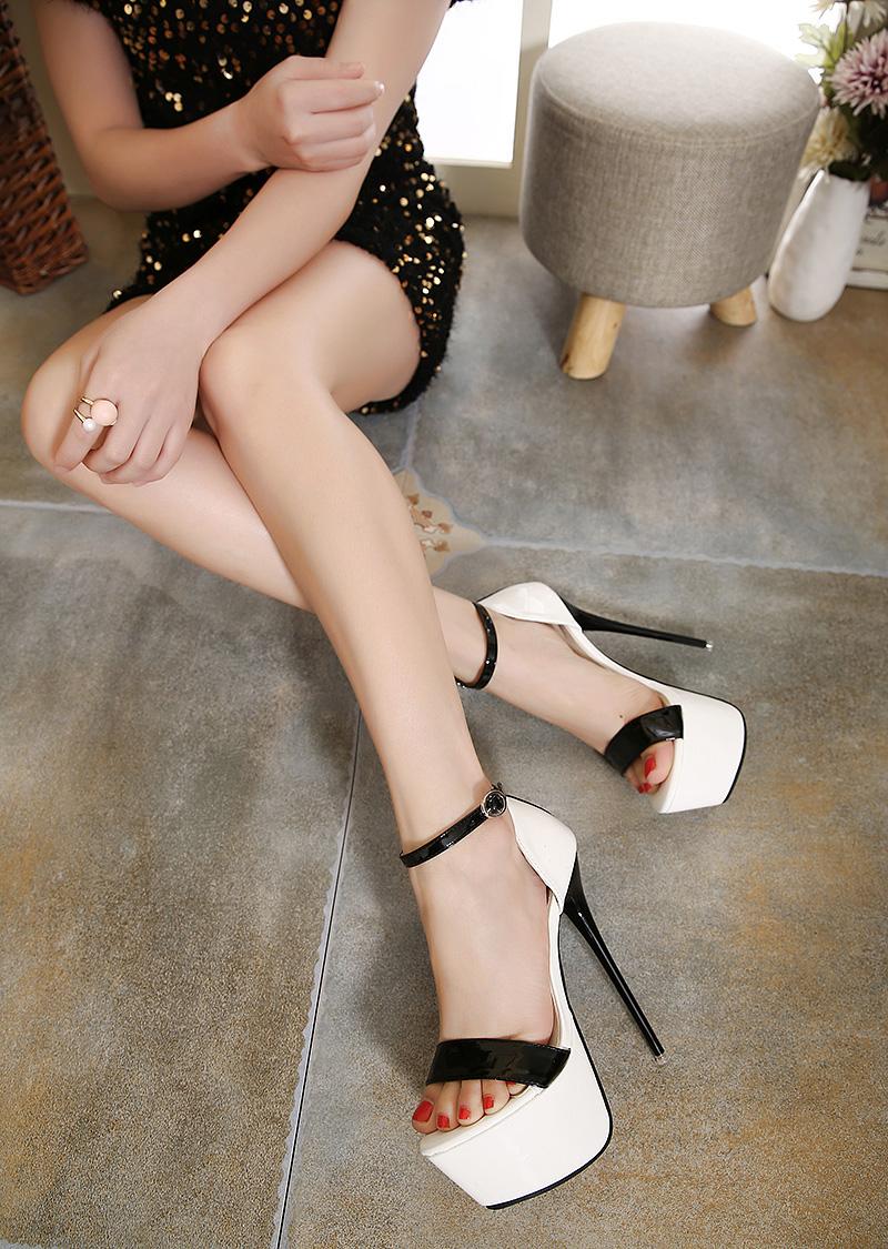 3 Color T-stage High Heel Sandals Pumps