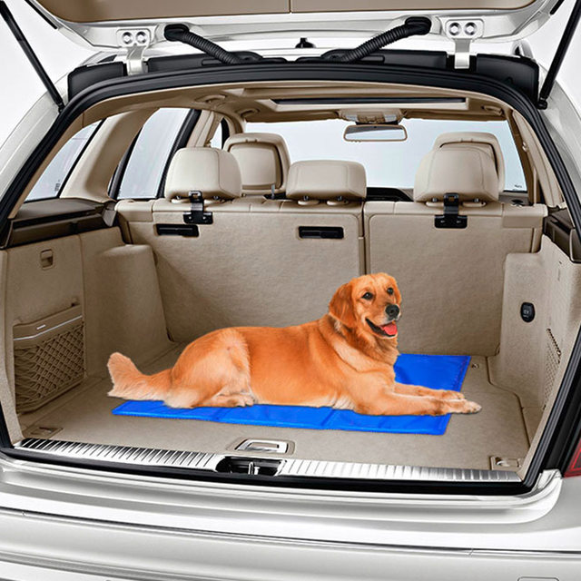 Pet Dog Car Rear Bench Back Seat Cover Mat Waterproof Cooling Gel Cool Beds Cat Summer Pad Bed For Pets Dogs Products