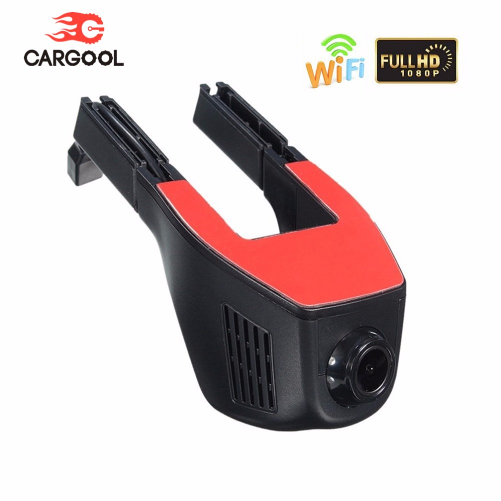 CARGOOL Car DVR 170 Degree Wide Angle Dash Cam 64GB 1080P HD Car Dashboard Camera Wifi Hidden Driving Recorder G sensor hidden install wifi car dvr for bmw car low spec e90 e91 e87 e84 hd 1080p 170 wide angle support g sensor motion detection