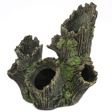 Aquarium Simulation Crystal Shrimp Breeding House Artificial Tree & Roots Driftwood For Fish Tank Decorations