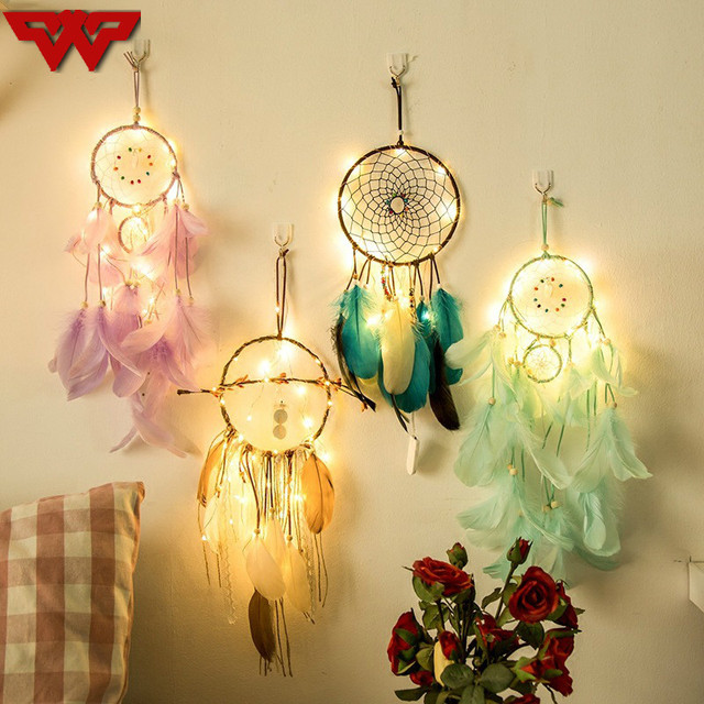Home lighting decoration fancy Ball 20 Led String Lights Creative Handmade Indian Fancy Dream Catcher Holiday Home Party Decor Gift Feather Wind Chimes Max Pixel 20 Led String Lights Creative Handmade Indian Fancy Dream Catcher