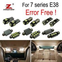 21x светодиодный фонарь освещения номерного знака+ интерьер светильник комплект для bmw серий 7 E38 седан 730i 730iL 735i 735iL 740i 740iL 750i 750iL(94-01