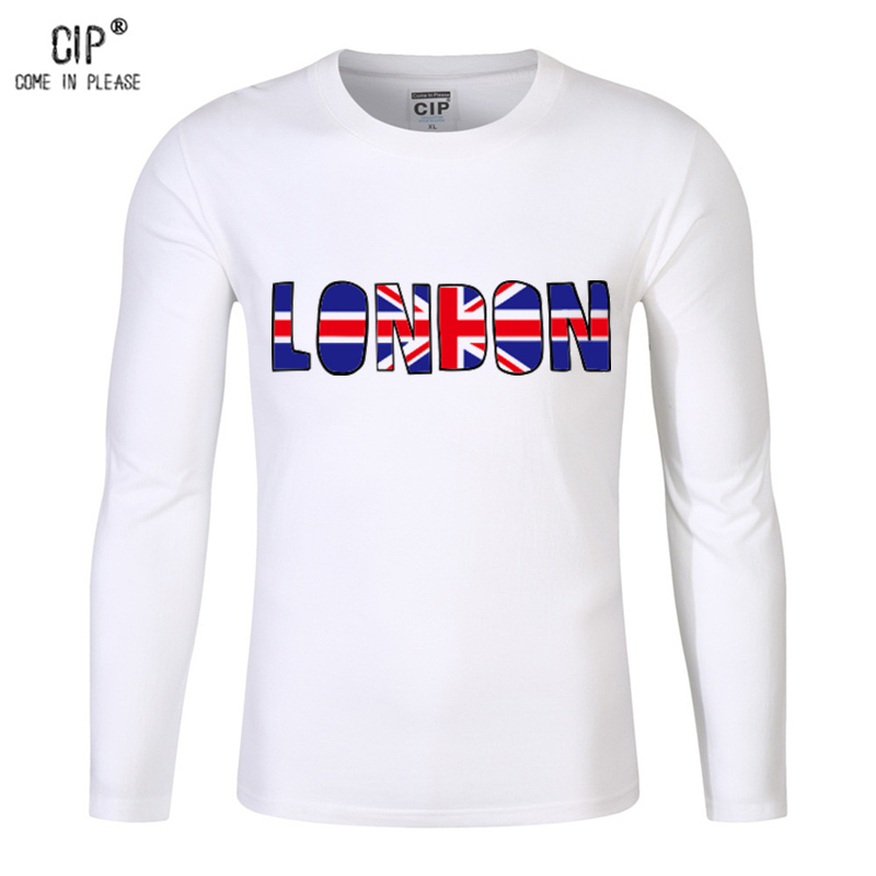 CIP 100%Cotton Kids Tops T-shirts 2017 Autumn Long Sleeve Girls Boys T shirts Cool London Tshirt for Boy Childrens T-shirt Tops