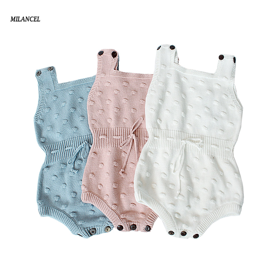 MILANCEL Baby Girls Knitting Romper Newborn Baby Girl Clothes Knit Bubble Baby Romper Overalls Autumn Bubble Sweater Boys