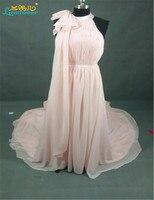 High Quality Flexible Styles Bridesmaid Dresses With Bow Custom Made Vestidos Floor Length Long Chiffon Maid