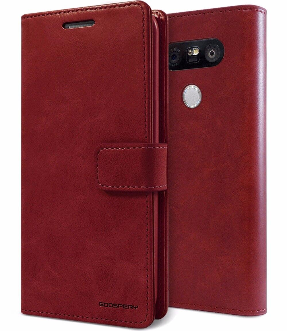 Original Mercury Goospery Blue Moon Diary Pu Leather Flip Card Samsung Note 3 Case S L1600 6