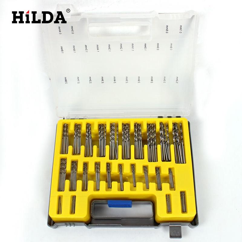 HILDA 0.4-3.2mm Mini Drill Bit Set HSS Microtech Power Tools Small Precision Twist Drilling Kit with Case Plastic Box 13pcs set hss high speed steel twist drill bit for metal titanium coated drill 1 4 hex shank 1 5 6 5mm power tools par ad1038