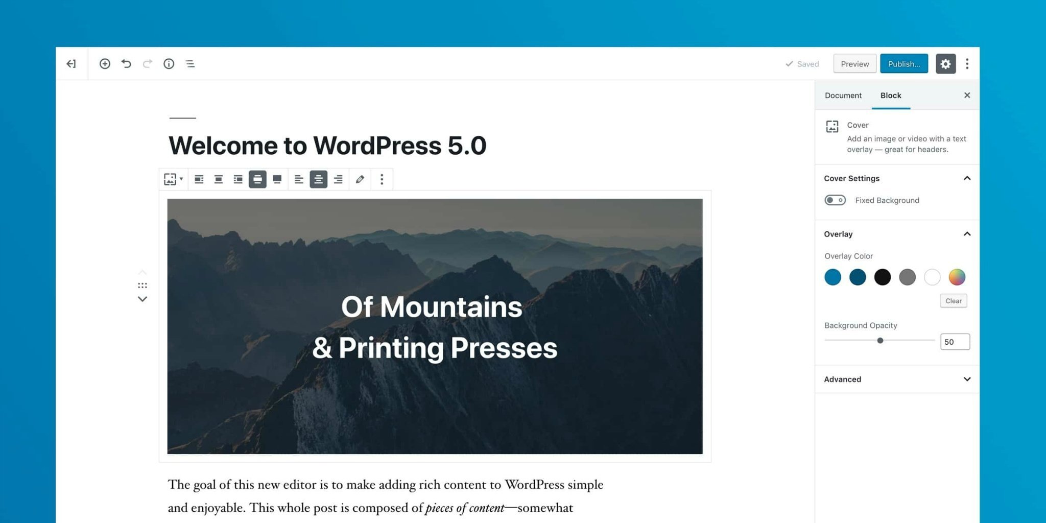WordPress 5.0正式版