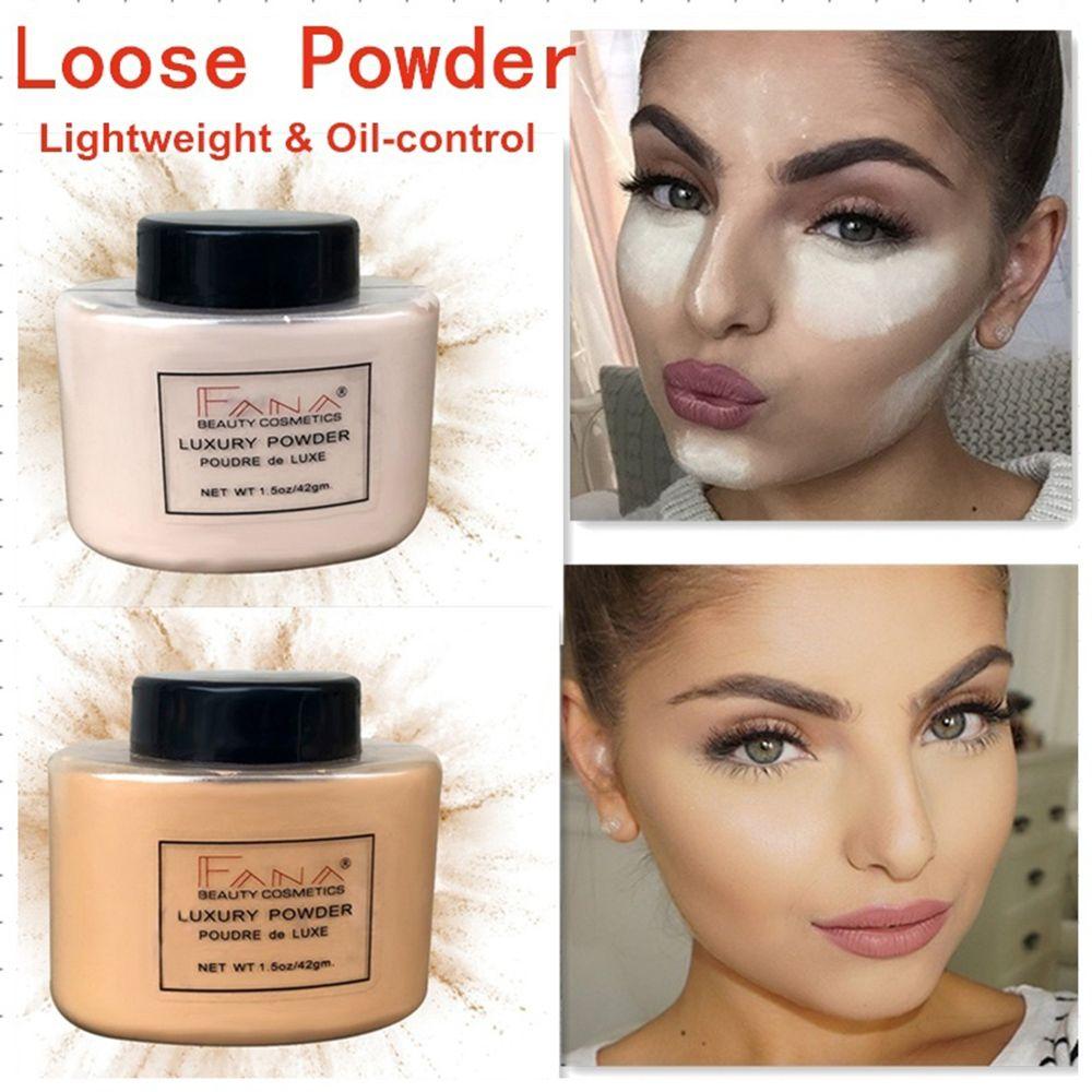 1 Pc Glatte Lose Oil Control Face Pulver Make-up Concealer Pulver Banana Schönheit Highlighter Mineral Pulver Comestic Zubehör