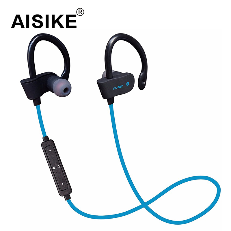 AISIKE Original Sports Wireless Bluetooth Earphones Stereo Earbuds Headset Headphones with Mic in-ear for iPhone 6 Samsung remax s2 bluetooth headset v4 1 magnet sports headset wireless headphones for iphone 6 6s 7 for samsung pk morul u5