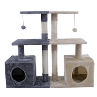 Domestic Delivery Cat Furniture Playing For Fun Cat House Sleeping Pet Scratching Post Frame Holes For Cat Playing Training