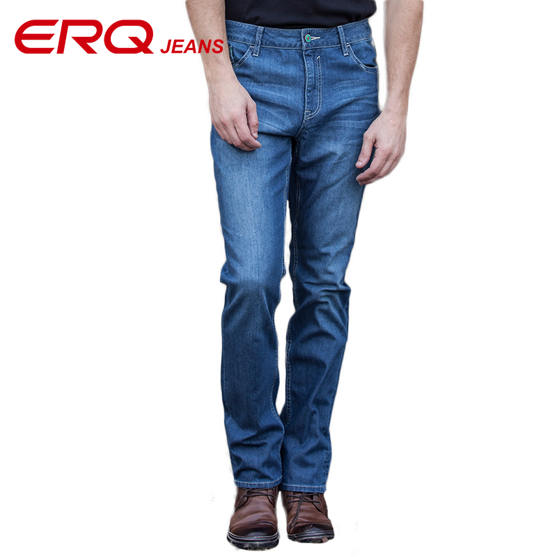 ERQ New Skinny Jeans Men Casual Fashion Stretch Jeans Male Long Mens Jeans Slim Fit Men Straight Pants Casual Trousers 52001 недорого
