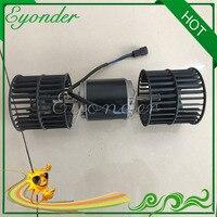 24 v ac a/c ar condicionado ventilador duplo ventilador unidade do motor para a máquina escavadora volvo ec 330 360 460 ec330 ec360 ec460 voe 14576774