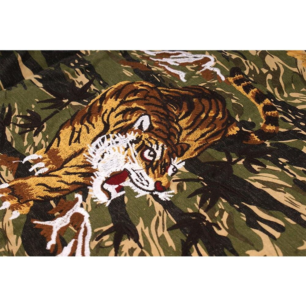 ฤดูใบไม้ร่วงฤดูหนาว Camouflage Tiger เย็บปักถักร้อยเสื้อชายทหาร Mutil หลวม Casual Streetwear เสื้อบุรุษเสื้อผ้า-ใน เสื้อเชิ้ตลำลอง จาก เสื้อผ้าผู้ชาย บน   3