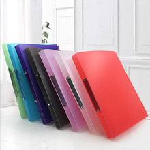 New Paper plywood plastic O type 2 hole A4 multi - function document binder punch file folder Filing Products document  bag