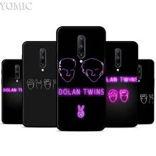 Dolan Twins Silicone Case for Oneplus 7 7Pro 5T 6 6T Black Soft Case for Oneplus 7 7 Pro TPU Phone Cover