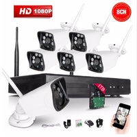 8CH CCTV System Wireless 1080P NVR 8PCS 2 0MP IR Outdoor P2P Wifi IP CCTV Security