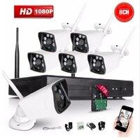 8CH CCTV System Wireless 1080P NVR 8PCS 2 0MP IR Outdoor P2P Wifi IP CCTV Security