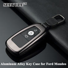 hot deal buy 1pc seeyule aluminum alloy luxury deluxe car key case shell remote key cover protector storage bag car styling for ford mondeo