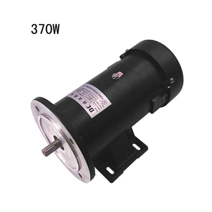 Permanent magnet DC motor 370W with round flange with horizontal and vertical double DC1/2HP 1800 rpm motor with gear 40w 50w hand cranked generator dc small generator 12v 24v permanent magnet dc motor dual use