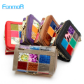 FONMOR Fashion Genuine Leather Women short Wallets Patchwork Hasp Coin Pocket Female Clutch Carteira Feminina Women Purse Wallet