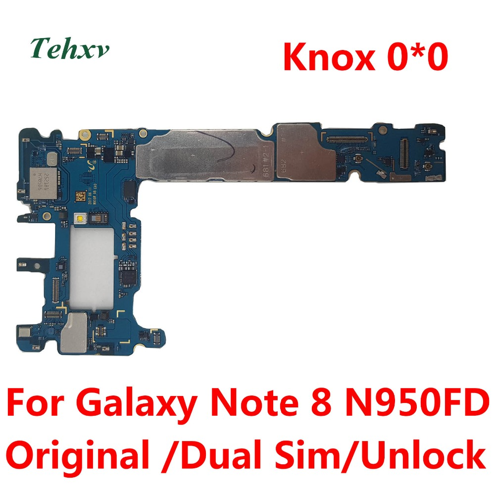 Tehxv Mainboard N950FD Note8 Knox Samsung for Galaxy Note-8/N950fd/Dual-sim/.. Unlocked